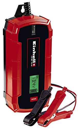 Einhell Batterie-Ladegerät CE-BC 10 M (intelligentes Batterieladegerät mit Mikroprozessorsteuerung für verschiedenste Batterietypen, u.a. Kfz/Krad, max. 10 Ampere Ladestrom)