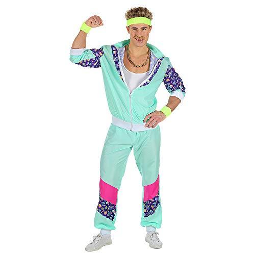 Widmann 00183 - Erwachsenenkostüm, 80er Jahre Trainingsanzug, Jacke und Hose, angenehmer Tragekomfort, Assi Anzug, Proll Anzug, Retro Style, verschiedene Größen, Bad Taste Party, 80ties, Karneval