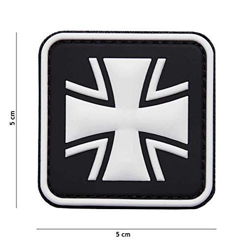VAN OS Emblem 3D PVC Patch Eisernes Kreuz Bundeswehr Patch Klett Abzeichen Aufnäher schwarz