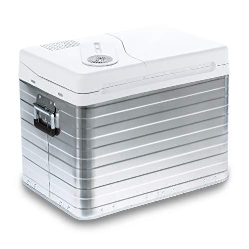 Mobicool MQ40A AC/DC - tragbare thermo-elektrische Alu-Kühlbox, 39 Liter, 12 V und 230 V für Auto, Lkw und Steckdose, Aluminium-Gehäuse