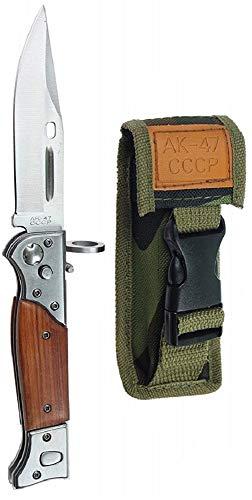 KOSxBO® Militär Klappmesser - Messer Klingenlänge 10 cm - scharfes Messer - Klinge aus Edelstahl - Universalmesser - Outdoormesser - einklappbares Messer
