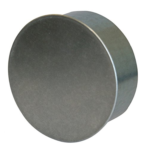 Kamino Flam Rohrkapsel aus verzinktem Stahl, feueraluminiert (FAL), Kaminverschluss mit Isolierung, Verschluss für alle gängigen Ofenrohre, Ofenlochdeckel für Rohre Ø 180 mm, Tiefe: 48 mm