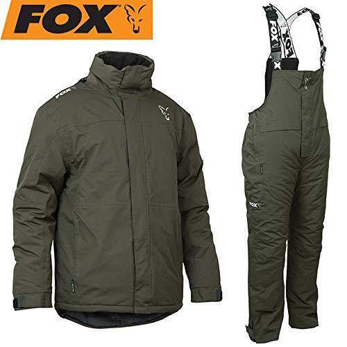 Fox Carp Winter Suit - Thermoanzug für Karpfenangler, Schneeanzug für Angler, Winteranzug zum Angeln im Winter, Thermo Zweiteiler, Größe:XXL