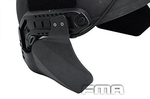 ATAIRSOFT Seitendeckel für Schneller Helm Airsoft Taktische Schiene Militär Paintball Helm Zubehör Helm Gehörschutzabdeckungen Schwarz
