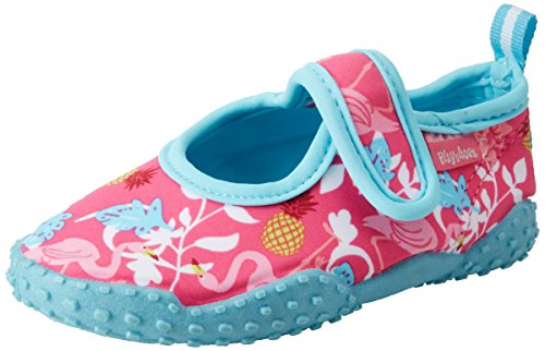 Playshoes Unisex-Kinder Badeschuhe Flamingo mit UV-Schutz Aqua Schuhe ,Türkis (türkis) ,22/23 EU