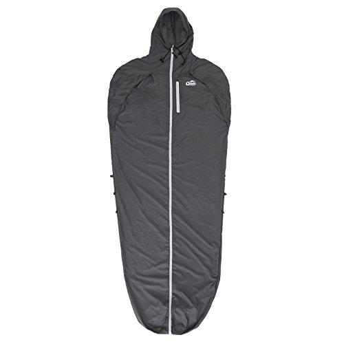 Qeedo Hüttenschlafsack Lenny, Mumienschlafsack, Kleines Packmaß, Leicht, Schlafsack, Bein- und Armfreiheit