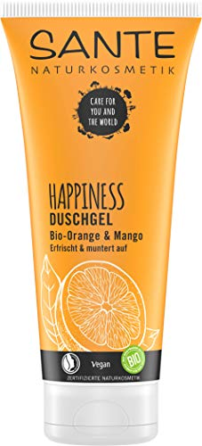 SANTE Naturkosmetik Happiness Duschgel, Tropischer Duft, Intensive Feuchtigkeit, 200 ml