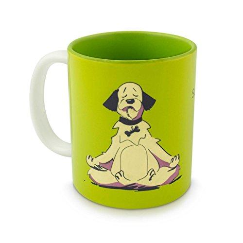 Keramik Tasse mit Comic Motiv & Spruch - Grün