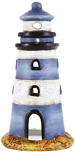 HEITMANN DECO - Windlicht Leuchtturm aus Keramik - sehr schöne Maritime Deko - als Tischdeko und für Wohnzimmer