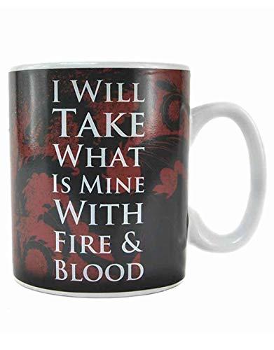 Half Moon Bay Game of Thrones Tasse mit Wärmeeffekt, 10,5 x 9,5 x 12,5 cm