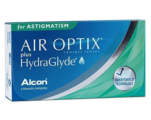 Alcon Air Optix plus HydraGlyde for Astigmatism Monatslinsen weich, 6 Stück / BC 8.7 mm / DIA 14.5 mm / CYL -1.25 / ACHSE 20 / -6.5 Dioptrien