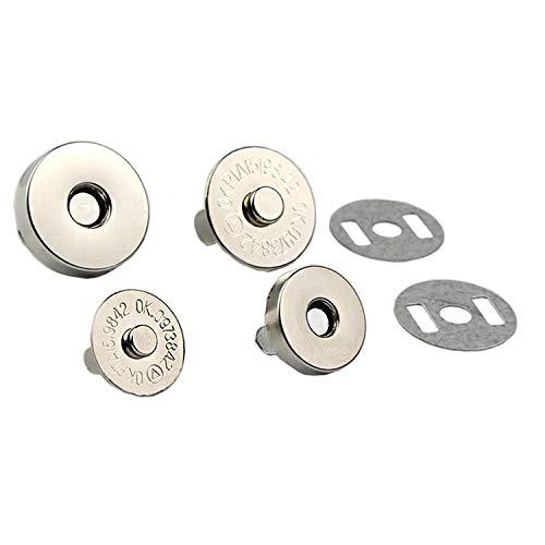 WLot 100 Stück Magnetverschluss Magnetknöpfe Magnetschließen ideal zum Nähen Basteln Kleidung Tasche Sammelalben (18mm)