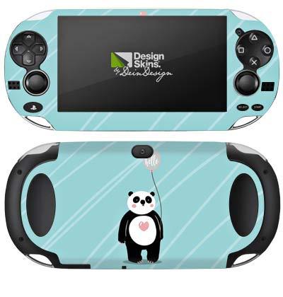 Skin kompatibel mit Sony PS Vita 1000 Aufkleber Folie Sticker Panda Comic Zeichentrick
