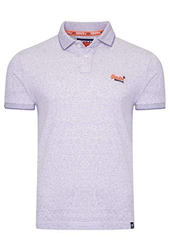 Superdry Herren Poloshirt Kurzarm bleu (50) S