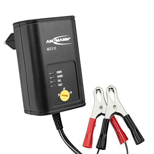 ANSMANN Batterie Ladegerät 2V / 6V / 12V mit Erhaltungsladung zum Laden & Einlagern von Blei Akkus (Gel, Wet, MF, VRLA, AGM) für Oldtimer, Motorrad, Roller, Rasenmäher, Boote usw.