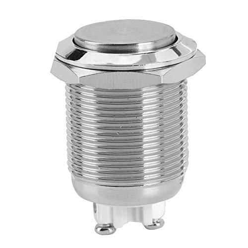 Taster Druckknöpfe, 12V 3A Drucktaster Interlock Metall Taster mit hoher runder Kappe Taster A19-10DZ