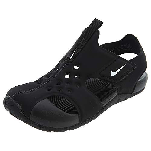Nike Jungen Sunray Protect 2 (ps) Sport Sandalen, Schwarz (Black/White 001), 28 EU