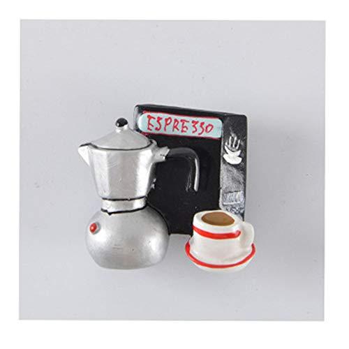 ljpxbb Zuhause Bürokaffeegerät Stil Mokka Wasserkocher Kaffeebohne Kaffeekanne 3D Kühlschrankmagnete Aufkleber Dekoration Kühlschrank Zubehör-In Kühlschrankmagnete