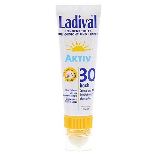 Ladival Aktiv Gesicht und Lippen LSF 30 Creme und Stift, 1 St. Kombipackung