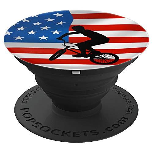 Rad BMX Racing American Flag Sport Fan Gift - PopSockets Ausziehbarer Sockel und Griff für Smartphones und Tablets