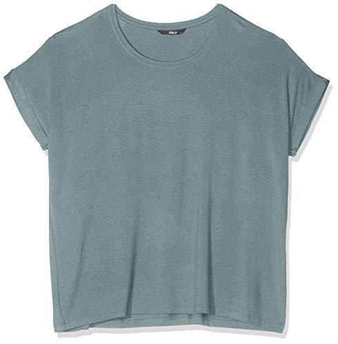 ONLY NOS Damen T-Shirt onlMOSTER S/S O-Neck TOP NOOS JRS, Grün (Balsam Green), 40 (Herstellergröße: L)