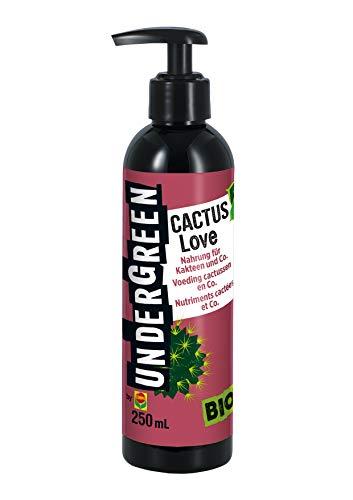 Undergreen Cactus Love, Nahrung für alle Kakteen und Sukkulenten, Bio-Flüssigdünger, 250 ml