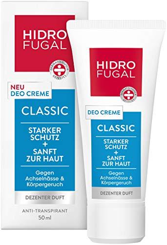 Hidrofugal Deo Creme Classic im 1er Pack (1 x 50 ml), hochwirksames Deodorant gegen Körpergeruch und Achselnässe, Antitranspirant mit dezentem Duft