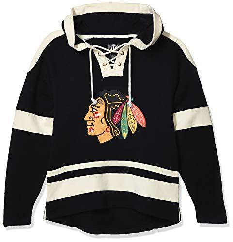OTS NHL Chicago Blackhawks Men's Grant Lace Up Pullover Hoodie, Alternate Logo, X-Large