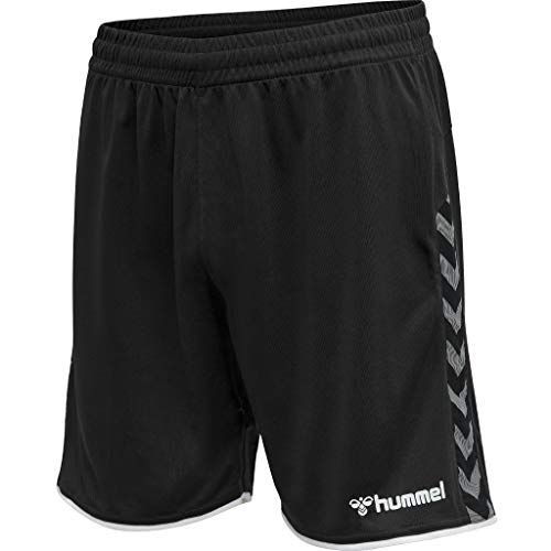 hummel Herren hmlAUTHENTIC Poly Shorts, Black/White, L