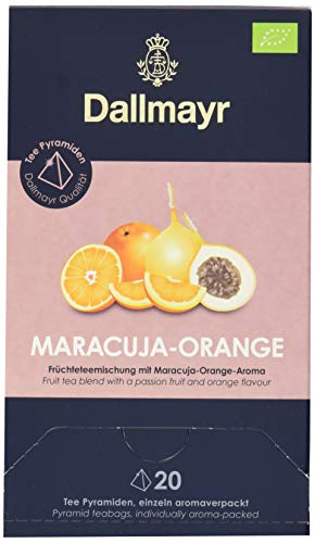 Dallmayr Teepyramide Maracuja/Orange Bio, 1er Pack (1 x 80 g)