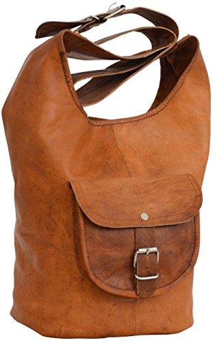 Shopper Ledertasche Damentasche Braun Leder
