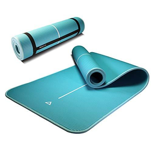 PROIRON Fitness Matte für Zuhause Fitnessmatte rutschfest Gymnastikmatte rutschfest NBR-Material 183cm x66cm x1cm mit Tragegurt (Minzgrün)