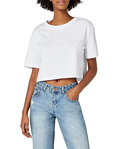 Urban Classics TB1555 Damen T-Shirt Ladies Short Oversized Tee White, M