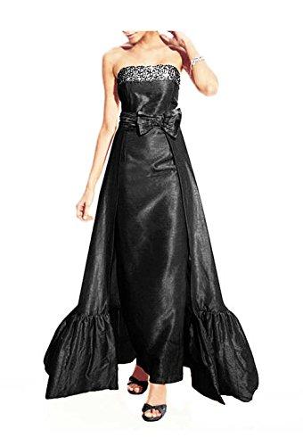 Carry Allen by Ella Singh Damen-Kleid Abendkleid mit Schleppe Schwarz Größe 34