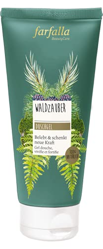 farfalla WaldzauberDuschgel - 100% zertifizierte Naturkosmetik NaTrue - mit ätherischen Ölen, 200 ml