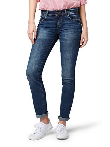 Tom Tailor Damen Straight Straight Jeans ALEXA STRAIGHT, Blau (Mid Stone Wash Denim 10281), W36/L34 (Herstellergröße: W36/L34)