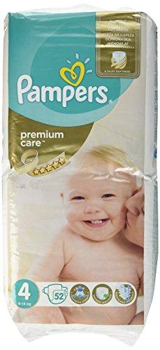 Pampers Premium Care 4 ,8-14 Kg, 52Stück–Windel Disposable Diaper, weiß)