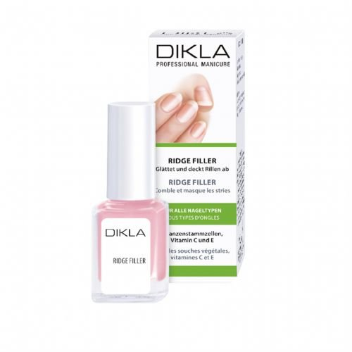 DIKLA Ridge Filler 12ml - glättet Nagelrillen nachhaltig - gibt ein dezentes rosa Finish - Swiss Quality