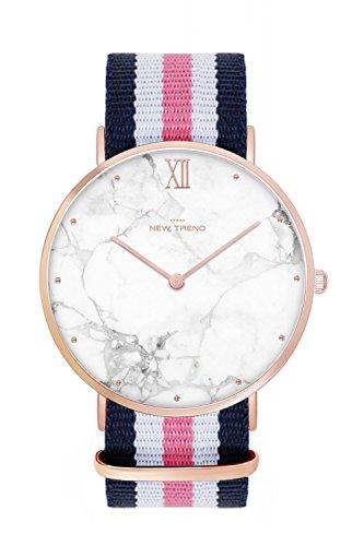 New Trend - Love for Accessories Damen Uhr analog Quarzwerk mit Nylon Armband 67-R1QO-GQII