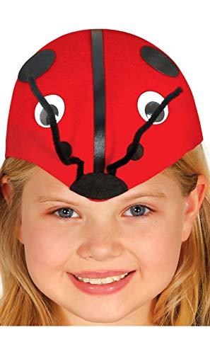 Guirca Süsse Marienkäfer Kappe für Kinder Karneval Fasching Party Hut Mütze Kopf rot Tier