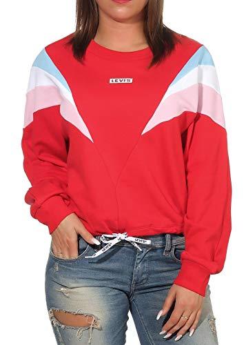 Levi`s Damen Sweatshirt Florence Crew 777110002 Baby tab Crew Brilliant red XL