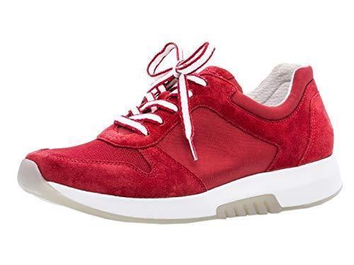 Gabor Damen Low-Top Sneaker 26.946.58, Frauen Halbschuh,Sportschuh,Schnürschuh,atmungsaktiv,red,37.5 EU / 4.5 UK