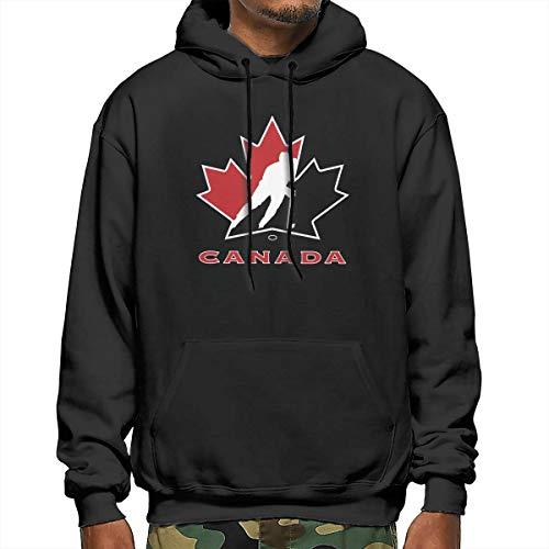 Canada National Ice Hockey Team Logo Loose Herren Hoodies Pullover Hooded Sweatshirt Gr. XX-Large, Schwarz