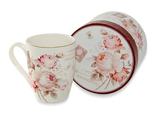 Große Tasse Beautiful Rose aus Porzellan 320 ml in Geschenkverpackung von Duo