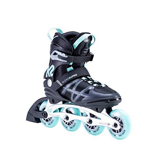 K2 Skates Damen ALEXIS 84 PRO Inline Skates, black-light blue, 38 EU (5 UK)