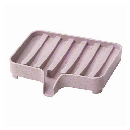 OIYINM77 Quadratische Form Seifenablass Rack Seifenkiste Badezimmerzubehör Rasierseifenschalen