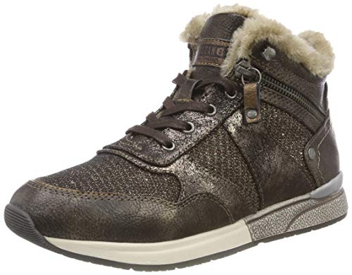 MUSTANG Damen High Top Hohe Sneaker, Braun (Mokka 303), 39 EU