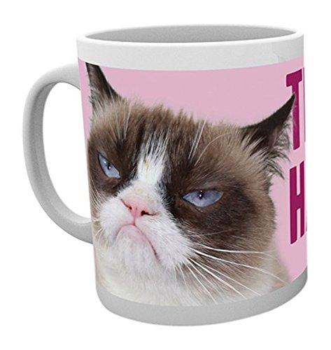 GB Eye, Grumpy Cat, Happy Face-Becher, Mehrfarbig