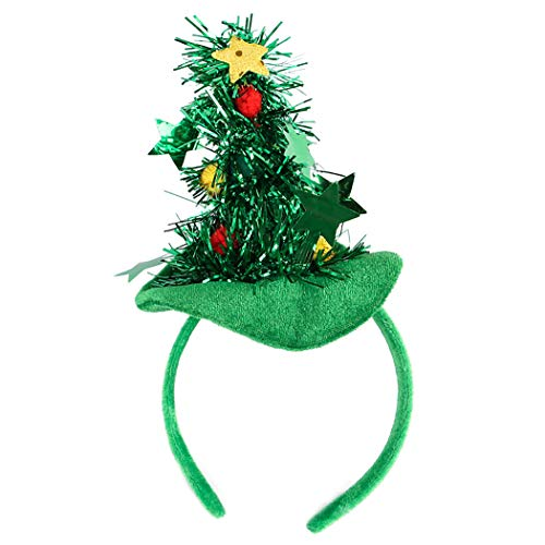 Kapmore Weihnachten Haustier Stirnband Weihnachtsbaum Hut Hund Headwear Haustier Kostüm für Hunde Katzen