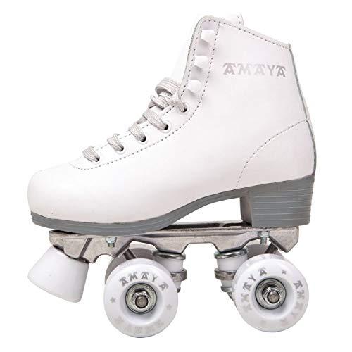 AMAYA SPORT Klassischer Vierrad-Skates im Paralell-Look, Weiß, 34